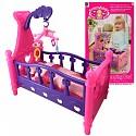Puppenwiege Puppenbett mit Bettwäsche und Mobile ohne Puppe
