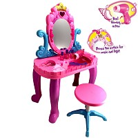 Schminktisch Frisiertisch pink/lila für kleine Prinzessinnen