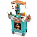 Spielküche mit Licht, Sound und einem Wasserkessel mit echtem Dampf türkis/orange