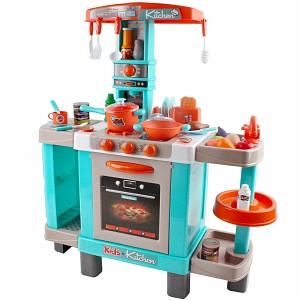 Spielküche mit Licht und Sound türkis/orange groß
