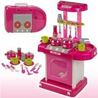 Spielküche mit Licht und Sound rosa/pink auch zum Mitnehmen