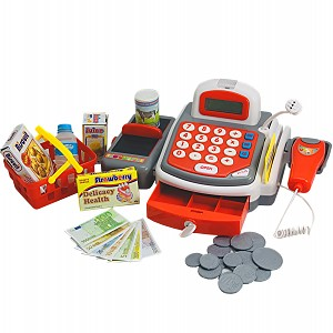 Elektronische Spielkasse Kaufladenkasse Scannerkasse Spielzeugkasse