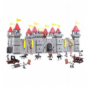 Große Ritterburg mit Spielfiguren