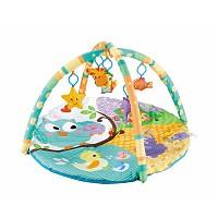 Bunter Baby-Spielbogen mit runder Krabbeldecke