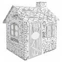 Kartonhaus zum Bemalen Rattan House