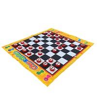 Schach-Spielteppich mit Figuren für In- und Outdoor
