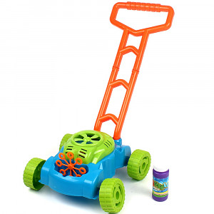 Kinder-Rasenmäher mit Blubber-Blasen Seifenmaschine