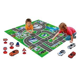 Auto-Spielteppich mit Fahrzeugen