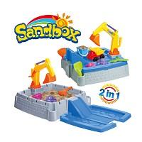 Sandspielzeug 11-teiliger Sandkasten mit viel Zubehör.