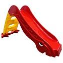 Kleinkindrutsche Gartenrutsche freistehende Babyrutsche rot / gelb