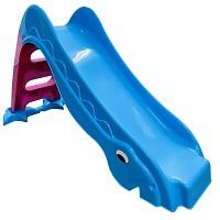 Kleinkindrutsche Gartenrutsche freistehende Babyrutsche blau / pink