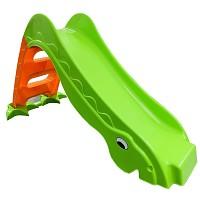 Kleinkindrutsche Gartenrutsche freistehende Babyrutsche grün / orange