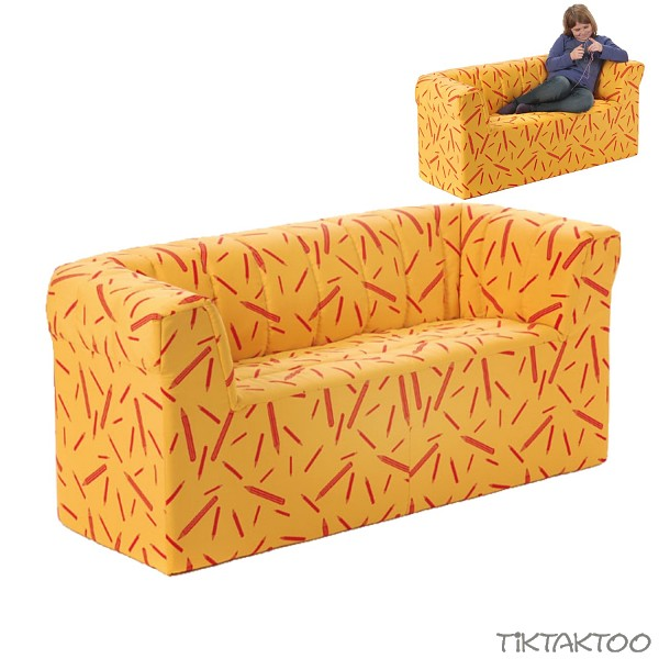 kindersofa f r kindergarten sofa sitzm bel kinderm bel m bel 2sitzer ebay. Black Bedroom Furniture Sets. Home Design Ideas