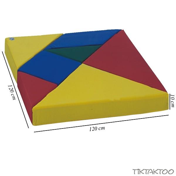 tangram 7 teilig matten figuren spielmatten puzzlematten baustein kindergarten ebay. Black Bedroom Furniture Sets. Home Design Ideas