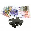 SPIELGELD Euro Münzen und Scheine 30 Teile Euroscheine Rechengeld Kaufladen