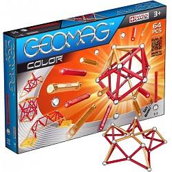 Geomag Color 64 teilig Magnet Konstruktionsbaukasten Magnetbaukasten