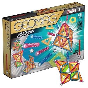 Geomag Panels Glitter 68-teilig Original Magnetbaukasten Magnetic Baukasten
