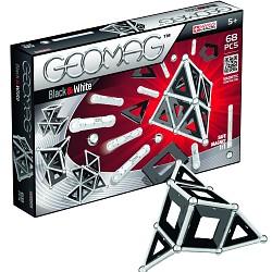Geomag Black & White 68Teile 012 Magnetbaukasten Original schwarz und weiss