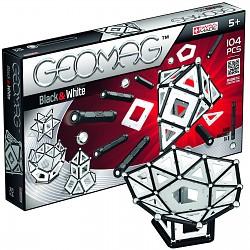 Geomag Black & White 104Teile 013 Magnetbaukasten Original schwarz und weiss