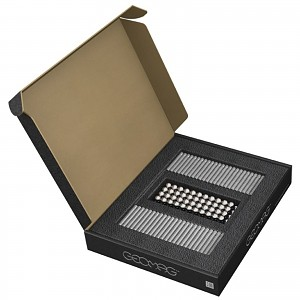 GEOMAG Masterbox silber 248 Teile Magnetbaukasten Magnetspielzeug Konstruktion B