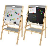 Standkindertafel Magnettafel Schreibtafel mit Papierrolle Standtafel Maltafel Holztafel
