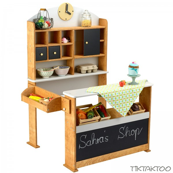 kaufladen aus holz kaufmannsladen verkaufsstand vintage marktstand kiosk kinder tiktaktoo. Black Bedroom Furniture Sets. Home Design Ideas