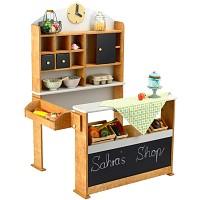 Kaufladen aus Holz Kaufmannsladen Verkaufsstand vintage Marktstand Kiosk Kinder