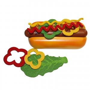 Beluga Food Bag Kaufladen Kinderküche Zubehör Holz Spielzeug Hot Dog Wurst zum sel