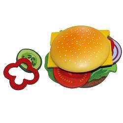 Beluga Food Bag Kaufladen Kinderküche Zubehör Holz Spielzeug Hamburger Brötchen se