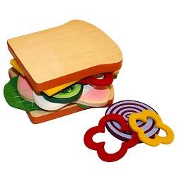 Beluga Food Bag Kaufladen Kinderküche Zubehör Holz Spielzeug Sandwich Toast zum se