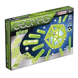 Geomag Glow 64 Teile 336 Magnetbaukasten Konstruktion Original Magnetic World