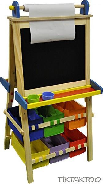 standtafel kindertafel magnettafel maltafel whiteboard mit papierrolle holztafel ebay. Black Bedroom Furniture Sets. Home Design Ideas