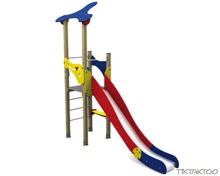 Spielturm In Klassichen Basic Farben 1 Turm Mit Rutsche