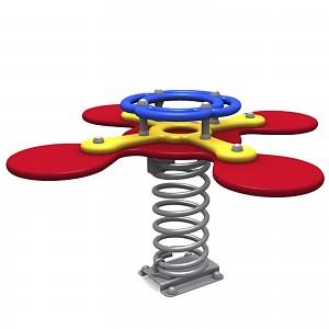 Federwipptier Federwippe Wippe für 4 Kinder für öffentliche Spielplätze DIN EN1176