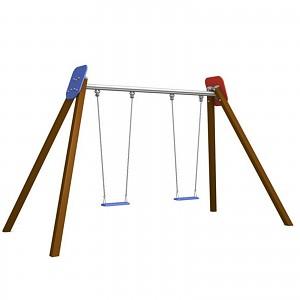 Komplette Doppelschaukel 2-Platz Schaukelgestell für den öffentlichen Spielplatz EB1176