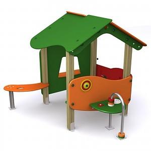 Spielhaus für öffentliche Spielplätze, Tagesmütter und Kindergärten EN1176