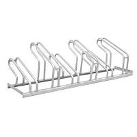 Bodenparker-Fahrradständer aus verzinktem Stahl mit Platz für 6 Fahrräder für privaten oder öffentlichen Einsatz.