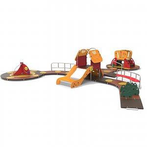 Kleinkinder Spielanlage für den öffentlichen Bereich mit Rutschen EN1176