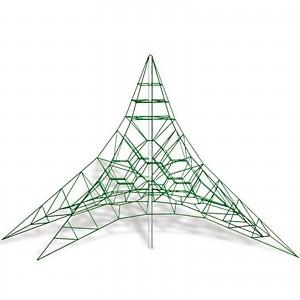 Spinnen-Kletternetz 4m Masthoehe Kletterpyramide Seilpyramide EN1176