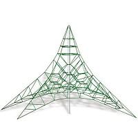 Spinnen-Kletternetz 6m Masthoehe Kletterpyramide Seilpyramide EN1176