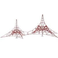 Doppel-Spinnen-Kletternetz 4m Masthoehe für öffentliche Spielplätze & Einrichtungen EN1176