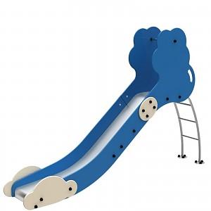 FENOKEE Leiterrutsche/Bockrutsche wartungsfreie Edelstahlrutsche Wolke für den öffentlichen Spielplatz EN1176