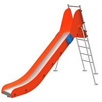 FENOKEE Leiterrutsche/Bockrutsche wartungsfreie Edelstahlrutsche Everest für den öffentlichen Spielplatz EN1176
