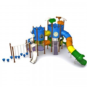 MODUS Mega Spielturm mit Tunnelrutsche für den öffentlichen Bereich EN1176
