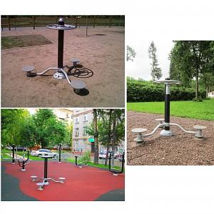 PLUS Gesundheits Element Plus-Waist auf verschiedenen Spielplätzen