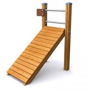 SPORT Rundkurs Element Drückbank für Bauch und Rückentraining für öffentlichen Spielplätze oder Trimm-Dich-Pfade