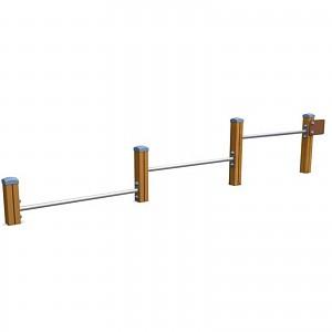 SPORT Rundkurs Element Push-Up-Bars für öffentlichen Spielplätze oder Trimm-Dich-Pfade