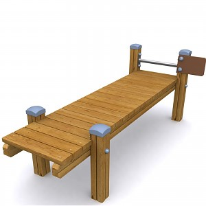 SPORT Rundkurs Element Rückenbank für öffentlichen Spielplätze oder Trimm-Dich-Pfade