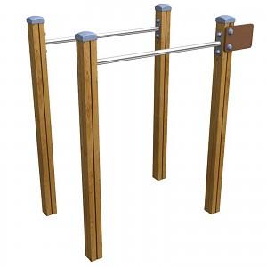 SPORT Rundkurs Element Doppelreckanlage / Barren für öffentlichen Spielplätze oder Trimm-Dich-Pfade