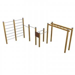 SPORT Rundkurs Elementen- SET zum Klettern und Hangeln für öffentlichen Spielplätze oder Trimm-Dich-Pfade
